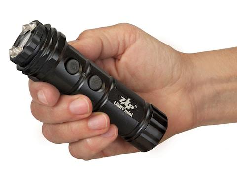 ZAP Light Mini 800,000 Volt Stun Gun with LED Flashlight Rechargeable Ni-MH  Battery Aluminum Black