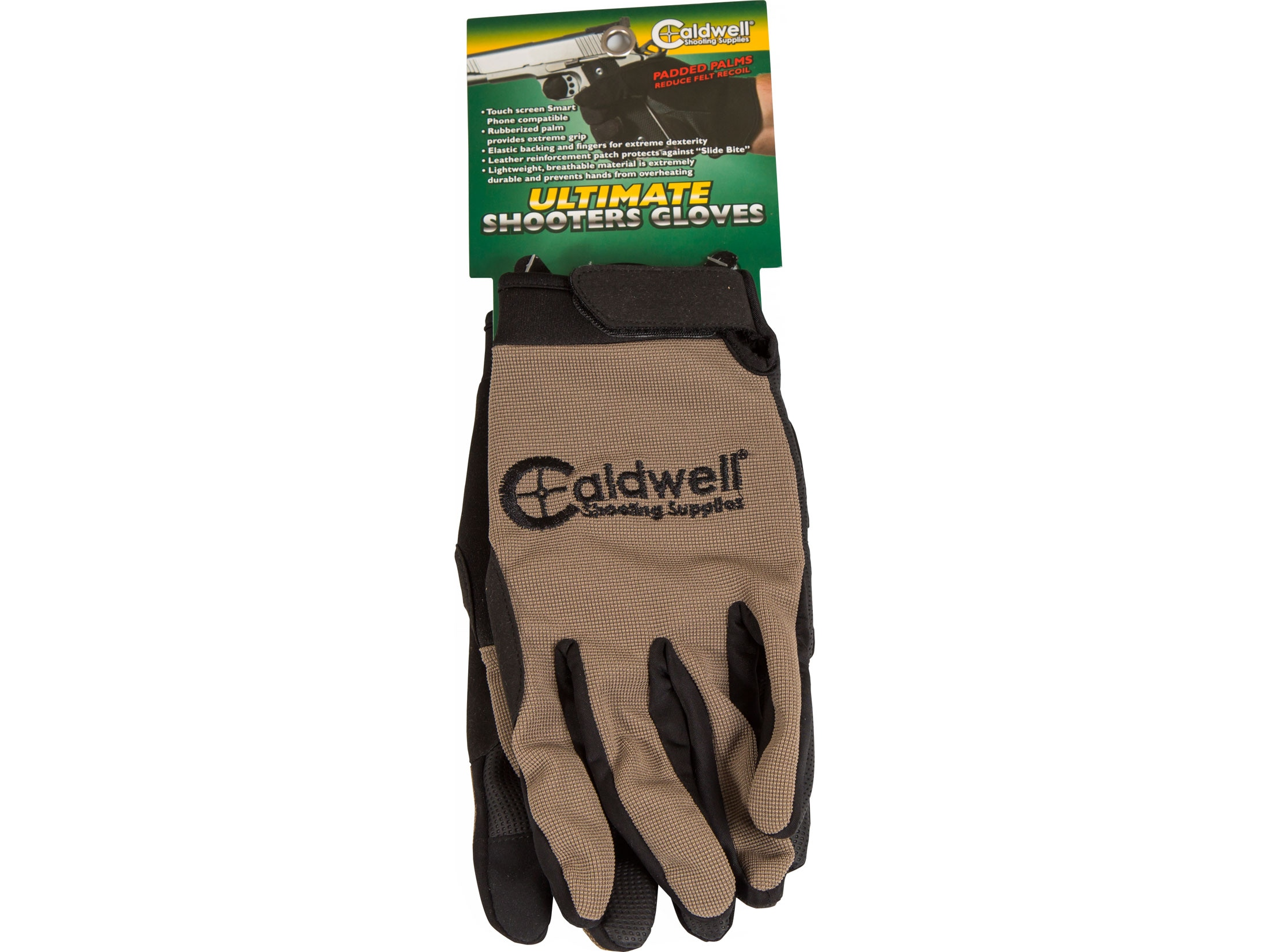 Mens Sand Color Thermal Lined Gloves Made Using USA Deer Suede
