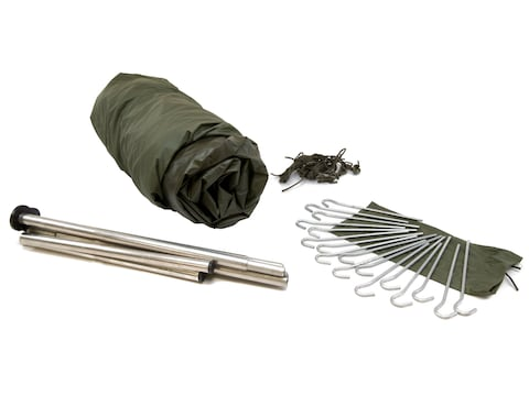Military Surplus NATO 2 Man Tent with Ground Cover Olive Drab