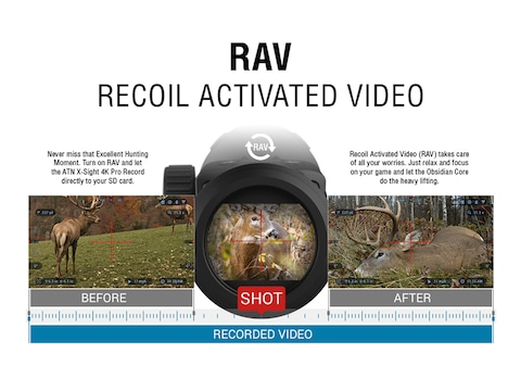 ATN X-Sight 4K Pro Series Smart HD Digital Day/Night Rifle Scope 3-14x with  HD Video Recording, Wi-Fi, GPS, Smooth Zoom, Smartphone Control via iOS or