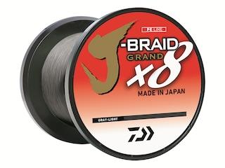 Daiwa J-Braid Grand X8 Braided Fishing Line 6lb 150yd Gray Light