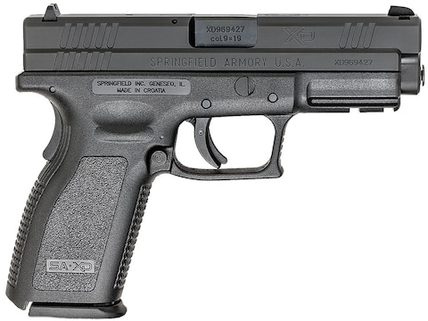 """Springfield Armory XD Service 9mm Luger Semi-Automatic Pistol 4"""" Barrel 10 + 1-Round"""