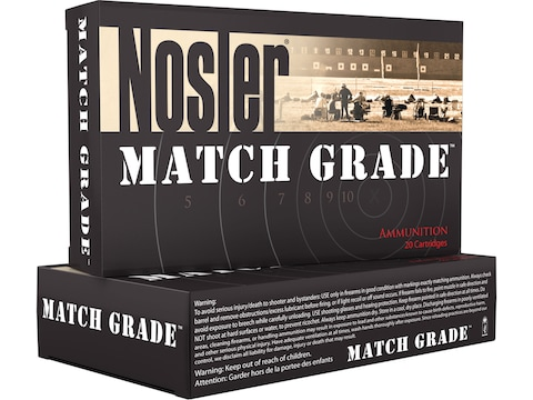 Nosler Match Grade Ammunition 223 Remington 70 Grain RDF Hollow Point Boat Tail Box of 20