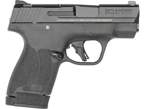 "Smith & Wesson M&P 9 Shield Plus Pistol 9mm Luger 3.1"" Barrel Black with Thumb Safety"