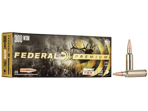 Federal Premium Ammunition 300 Winchester Short Magnum (WSM) 165 Grain Barnes TSX Box o...