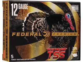 Federal Premium Heavyweight TSS Turkey Ammunition 12 Gauge Non-Toxic  Tungsten Super Shot Flitecontrol Flex Wad