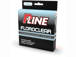 P-Line Floroclear Fluorocarbon Coated Fishing Line 2lb 300yd Clear