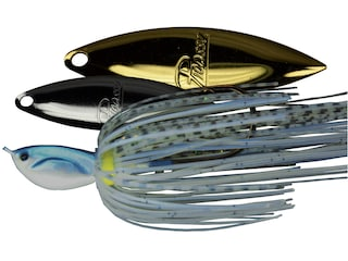 Picasso Super Strong Inviz Wire Double Willow Spinnerbait 1/4oz Blue Glimmer Shad Nickel/Gold