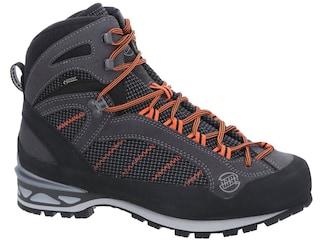 Hanwag Makra Combi GTX Hiking Boots Suede/Cordura Asphalt/Orange Men's 8 D