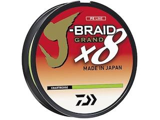 Daiwa J-Braid X8 Grand Braided Fishing Line 6lb 150yd Chartreuse