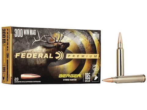 Federal Premium Ammunition 300 Winchester Magnum 185 Grain Berger Hybrid Hunter
