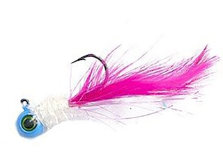 Jenko Fishing Kevin Rogers Warbird Hand Tied Jig Blue/White/Pink 1/16 oz