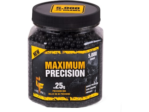 Game Face Maximum Precision 6mm BB .25 Gram Black Pack of 5,000