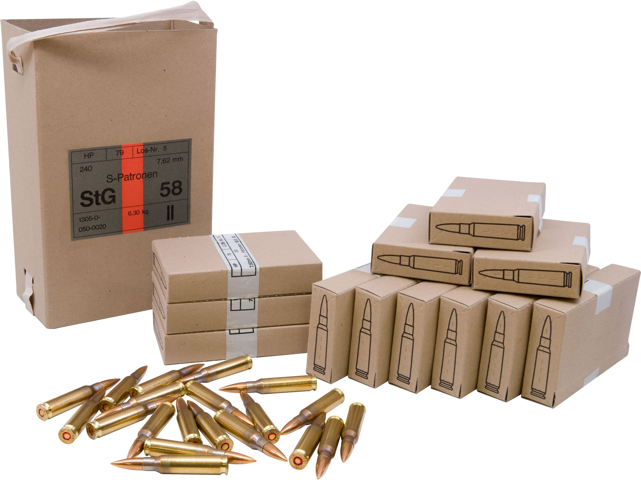Military Surplus Austrian Ammo 7 62x51mm NATO 146 Grain Full Metal