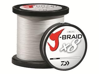 Daiwa J-Braid x8 Braided Fishing Line 80lb 300yd White
