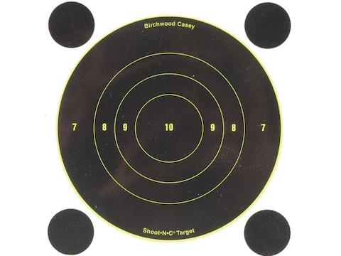 "Birchwood Casey Shoot-N-C Targets 6"" Bullseye Pack of 12 with 48 Pasters"