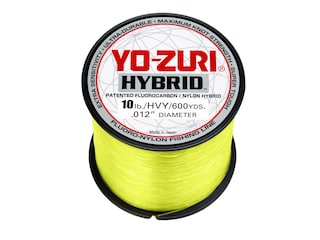 Yo-Zuri Hybrid  Fluorocarbon Fishing Line 10lb 600yd High-Vis Yellow
