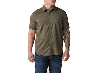 5.11 Men's Aerial Short Sleeve Shirt Ranger Green Large