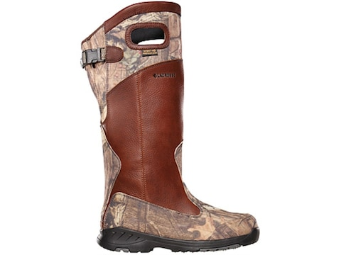 """LaCrosse Adder Scent HD 18"""" Snake Boots Leather and Nylon Brown and Mossy Oak Break-Up ..."""