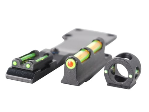 TRUGLO Tru-Bead Turkey Sight Set Universal Fits Shotgun with Vent Rib Fiber Optic Dual ...