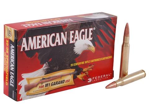 Federal American Eagle Ammunition 30-06 Springfield (M1 Garand) 150 Grain Full Metal Ja...