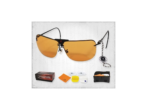 Radians RSG Interchangeable Shooting Glasses Clear, Orange, and Amber Lenses