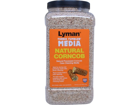 "Lyman Turbo Brass Cleaning Media Corn Cob Medium ""Easy Pour Container"""