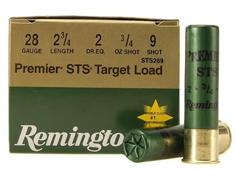 "Remington Premier STS Target Ammunition 28 Gauge 2-3/4"" 3/4 oz #9 Shot Box of 25"