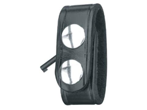 Gould & Goodrich B127 Belt Keeper with Handcuff Key Nickel Snap Leather Black