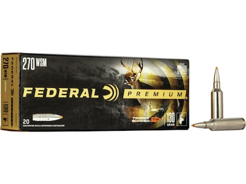 Federal Factory Second Ammunition 270 Winchester Short Magnum 130 Grain Trophy Bonded T...