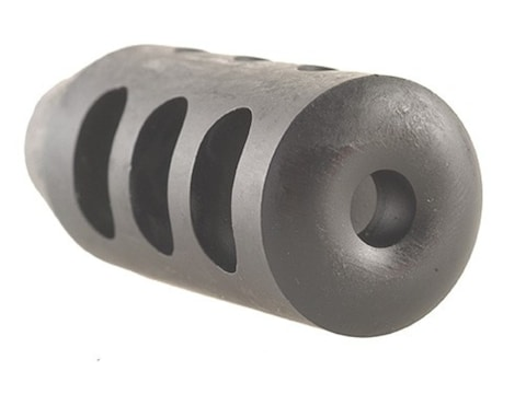 """Holland's Quick Discharge Muzzle Brake 9/16""""-28 Thread .580""""-.650"""" Barrel Tapered Chrom..."""