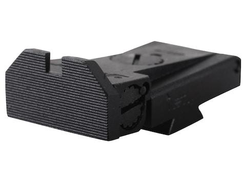 Kensight Adjustable Rear Sight 1911 LPA TRT Cut Steel Black Beveled Blade Fully Serrated