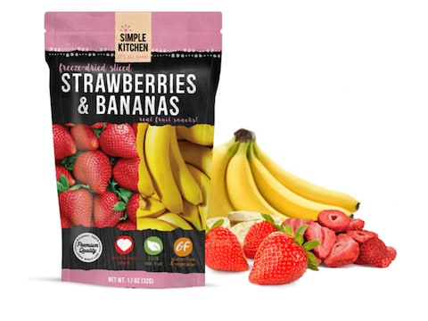ReadyWise Simple Kitchen Strawberries & Bananas Freeze Dried Food