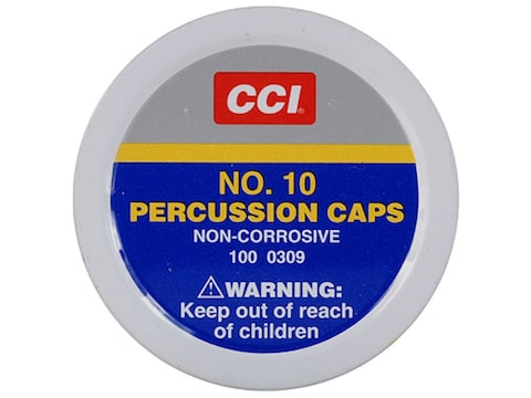 CCI Percussion Caps #10 Box of 1000 (10 Cans of 100)