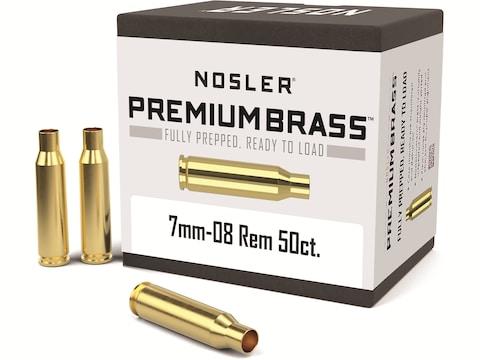 Nosler Custom Brass 7mm-08 Remington Box of 50