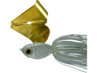 Picasso Dinn-R-Bell Buzzbait 1/2oz White Pearl Gold