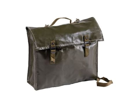 Military Surplus Czech Rubber Combat Pack With Strap Grade 2 Olive Drab