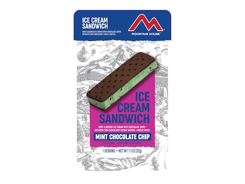 Mountain House Mint Chocolate Chip Ice Cream Sandwich Freeze Dried Food