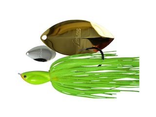 Picasso Inviz Wire Tandem Thunder Willow UL Wire Spinnerbait 1/4oz Chartreuse Nickel/Gold