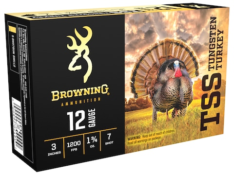 Browning TSS Turkey Ammunition 12 Gauge Non-Toxic Tungsten Shot