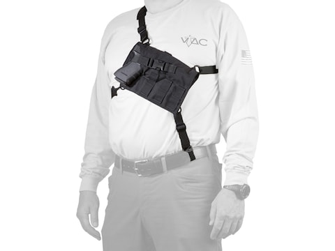 VTAC Big Rig Chest Holder Large Frame Semi-Auto, Revolvers Nylon Black