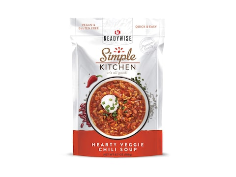 ReadyWise Simple Kitchen Hearty Veggie Chili Soup Freeze Dried Food
