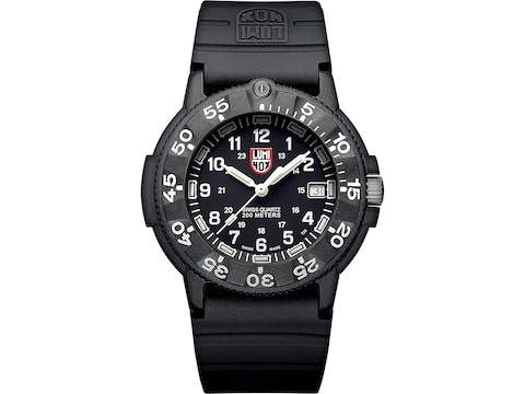 Luminox Original Navy Seal Watch Carbon Compound Case/Rubber Band Black/White