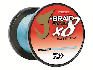 Daiwa J-Braid Grand X8 Braided Fishing Line 6lb 150yd Island Blue