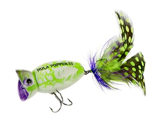 Arbogast Hula Popper 2.0 Topwater White Zombie