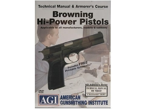 """American Gunsmithing Institute (AGI) Technical Manual & Armorer's Course Video """"Brownin..."""