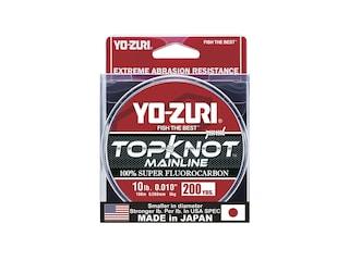 Yo-Zuri Topknot Mainline Fluorocarbon Fishing Line 10lb 200yd Natural Clear