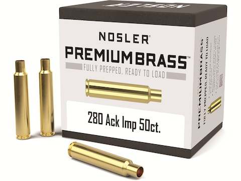 Nosler Custom Brass 280 Ackley Improved 40-Degree Shoulder Box of 50