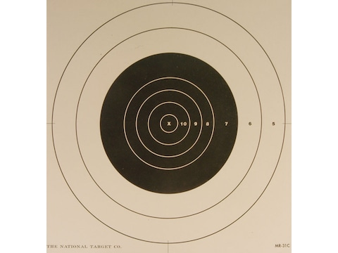 NRA Official High Power Rifle Targets Repair Center MR-31C 100 Yard Slow Fire Paper Pac...