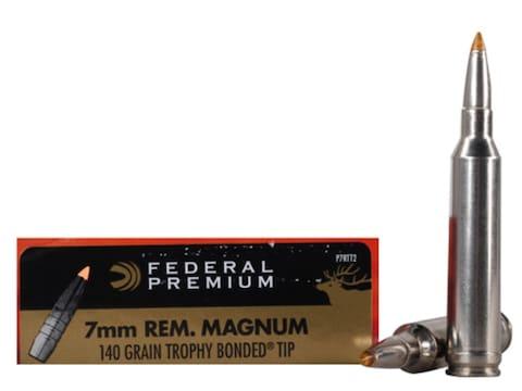 Federal Premium Ammunition 7mm Remington Magnum 140 Grain Trophy Bonded Tip Box of 20